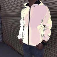 Herren Designer Jacke Casual HipHop Windjacke 3M Reflektierende Jacke Neue Muster Classic Marke Designer Männer und Frauen Liebhaber Sportmantel HOO