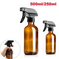Storage Bottles & Jars 250 500ml Amber Spray Bottle Glass Large Container Mist Stream Cosmetic Perfume Essential Oil Refillable Travel