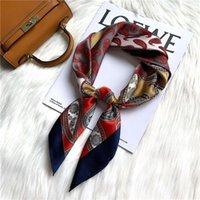 Шарфы кешью цветы шелковый шарф оголовье женское галстук волос сотни сопоставленные аксессуары квадратная леди стюардесса