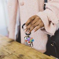 Oggetti decorativi Figurine Balloon Flying Dog Pendant Pendant Banking Ornamento con regalo colorato pendentif regalo creativo e simpatico zaino portachiavi