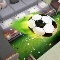 Carpets Flying Soccer Area Rugs Large Grass Goal Floor Mat Football Field Home Livingroom Bedroom Print Doormat Boys' Room Decor Carpet