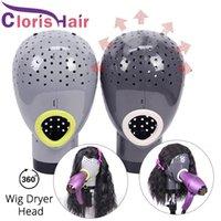 Peluca Secadora Maniquí Cabeza con agujeros Accesorios para el cabello Unidad de secado para pelucas de encaje Toupee Easy Salon Home Use Pantalla de pantalla fresca Modelo de soporte.