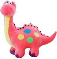 Brinquedo de pelúcia de pelúcia de pelúcia rosa, dinossauros animal para menino bebê menino crianças aniversário feriado presentes