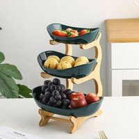 Dishes & Plates Home Living Room Multi-layer Fruit Plate Creative Modern Dried Basket Candy Dish Bowl Dessert Snack Cake Stand