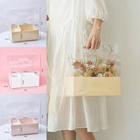 هدية التفاف الكريستال مربع PVC المحمولة شفافة زهرة التعبئة والتغليف الأزهار حقيبة مفاجأة جميلة حفل الزفاف كيك