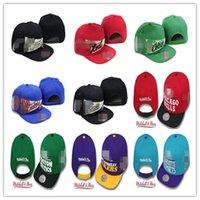 Оптовая продажа моды баскетбол Snapback бейсбол Snapbacks все команды защелкивающиеся шляпы женские мужские плоские колпачки хип-хоп спортивные головные уборы