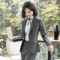Women's Suits & Blazers Women And Jackets Office Lady Formal Work Uniforms Business Female Outwear Notched Coat Blazer Feminino 2021 Autumn