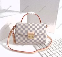 Women Luxurys Designers Hand bag 2021 The top quality checkerboard canvas outer straps are removable and non-adjustable