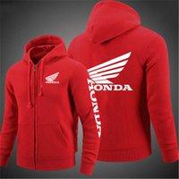 2021 New Honda Car Ala Ala Uomini Felpe con cappuccio Cardigan Giacca Stampa Punk Abbigliamento Moda Casual Zipper Felpa uomo vestiti X0610