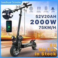 """Other Scooters 2000W Dual Motor Electric Adults 75KM H Folding Trotinette Électrique Europe Stock E Scooter 52V 20A Battery 10"""" Tire"""