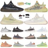 En Kaliteli Erkekler Mesh Spor Koşu Ayakkabıları Kanye West Cinder Beluga Kuyruk Işık 3 M Statik Yansıtıcı Zebra Nefes Yumuşak Spor Eğitmen Sneaker Kutusu Boyutu 36-48 EUR