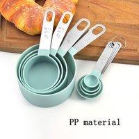 4Pcs 5pcs 10pcs Multi Purpose Spoons Cup Measuring Tools PP Baking Accessories Stainless Steel Plastic Handle Kitchen Gadgets