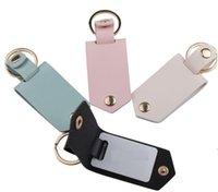 Newparty هدية diy التسامي نقل الصور ملصقا المفاتيح الهدايا للنساء الجلود سبائك الألومنيوم سيارة مفتاح قلادة CCA6849