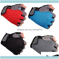Protective Gear Cycling & Outdoorscycling Gloves Bicycle Bike Anti Slip Breathable Half Finger Short Sports Aessories For Men Women Drop Del