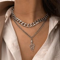Chains Punk Vintage Snake Pendant Necklace For Women Hip Hop Gold Color Multilayer Chunky Chain Portrait Coin Fashion Jewelry