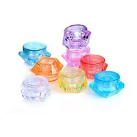 Plastic Wax Container Accessories Diamond Shape 3g 5g Stash Storage Box Makeup Cases Containers Dab Jars for Dry Herb Cosmetics