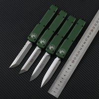 MicroTech Ultratech автоматические ножи D2 Blade CNC анодирование 6061-T6 авиационный алюминиевый сплав ручки охотничьи тактично открытый EDC карманный нож на день рождения