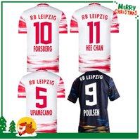 21 22 RBL Leipziges Futebol Jerseys 2021 Poulsen Forsberg Hee Chan Sabitzer Upamecano Szoboszlai Kluivert Camisa De Futebol Uniformes