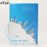 Card Holders ETya Fashion Travel Passport Covers PVC Leather Women Men Credit Holder Bag Case Wallet Purse Student Kids Gift