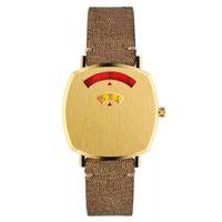 Classic cartoon pattern Womens digital fashion Quartz Watch with Gold-Tone Case Ladies Stainless Steel Watches luxury brand montre de luxe women wristwatches