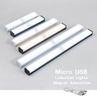 Ночные огни светодиодные световые датчик движения беспроводной USB аккумуляторная лампа для кухонного шкафа гардеробная чрезвычайная ситуация