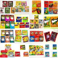 ONE UP 600MG Mylar Bags Brite Crawlers Apple Watermelon Peachie Strawberry Smell Proof Edibles Airheads Gummies Packaging