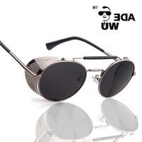 Modische Sonnenrahmen Adewu Marke Hight Qualität Sonnenbrille Metall Rahmen Steampunk Goggle Männer Frauen Sonnenbrille Vintage Brillen