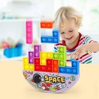 Descompresión colorido juguete tetris burbuja bloques de edificios pilas de altos niños jenga habilidad equilibrio Educación temprana juguetes educativos