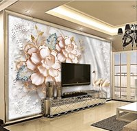 Bacal Custom Large Wallpaper 3d Mural Luxury European Papier Peint Flower Jewelry Background Wall 5d Murals Decorative Painting Wallpapers