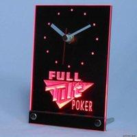 Wall Clocks Tnc0201 Full Tilt Poker Table Desk 3D LED Clock