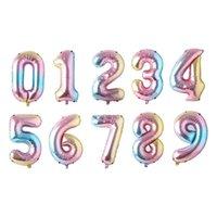 32inch Number Foil Balloons Digit Air Ballon Kids Birthday Festival Party Anniversary Crown Decor Supplies Balloonw30e