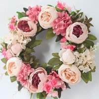 Decorative Flowers & Wreaths Multiple Styles Silk Peony Artificial Door Perfect Quality Simulation Garland For Wedding Home Party Decoration