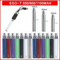 eGo-T 650mAh 900mAh 1100mAh Vape Pen Battery E Cigarette 510 Threading 10 Colors for Electronic Cigarettes Vapes Atomizer Vaporizers