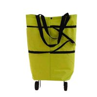 Storage Bags 2 In 1 Folding Shopping Bag Sundries Organizer Container Portable Oxford Cloth Cart Grocery Basket