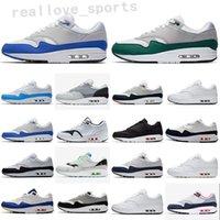 2021 ATMOS 1 87 Parra Sean Wotherspoon Blue Mens Runnin Shoes Pacote de Animais 1S 87S Leopardo Classic Athletic Mulheres Sneakers Treinadores TA09