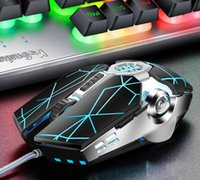 Drop Shipping Wired Cable Mouse Light Silent Simple Mice Usb 4000 DPI Gaming Comfortable Ergonomic Optical PC Laptop Mouses for Windows Customizable Q7