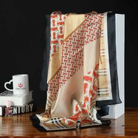 2019 nueva bufanda de seda grande Pañuelo cuadrado de la bufanda mejor vendida de las mujeres de 90 cm bufanda cuadrada