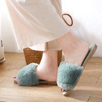 النساء النعال رقيق الفراء الشرائح المنزل الشرائح السيدات فروي داخلي أحذية زحافات المنزل الحلو لطيف غامض zapatillas موهير 210203