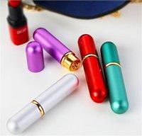 Diffuseur en aluminium Diffuseur Nasal Inhalateur Bouteilles rechargeables pour les huiles essentielles d'aromathérapie avec des mèches de coton de haute qualité 2023 V2