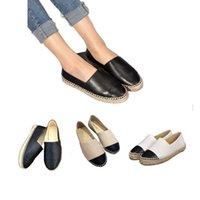 Vendite dirette della fabbrica Spadrilles Donne Spadrilles Scarpe casual da donna Primavera Autunno Moda Designer Real Genuine Brand Brand Lafers Slip-on Platform Shoe 34-42