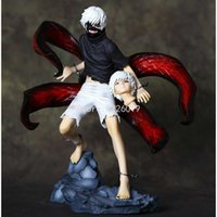Anime Tokyo Ghoul Figure Kaneki Ken Touka Kirishima Pvc Action Figure Figurine Kaneki Ken Awakening Génération de Jin Dark Jin Muyan Q0722