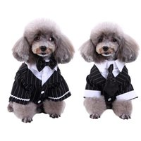 Dog Apparel Pet Clothes Suit Swallow Tailed Bow Tie Necktie Dress Coat Wedding Party Halloween Dress-up