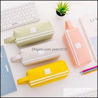 Cases Bags Supplies Office Business & Industrialcreative Double Zipper Pencil Case Kawaii Pencilcase Large Capacity Pen Box For Girls Gifts