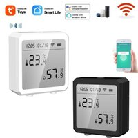 Smart Home Control Tuya WIFI Temperature And Humidity Bluetooth-Compatible Sensor Indoor Hygrometer Thermometer Detector With Alexa Google