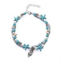 7 Styles Summer Beach Turtle en forme de corde de charme en forme de corde de corde pour femme Bracelet de cheville Femme Sandales sur la jambe Chaîne pied bijoux 27 Q2