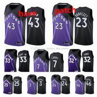 "2021 Toronto ""Raptors"" jerseys de basquete 43 Siakam Kyle 7 Lowry 1 McGrady 15 Carter 3 Anunoby Chris 25 Boucher Fred 23 Vanvleet Jersey"
