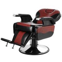 Ручная гидравлическая рекор татуировки стул салон парикмахера волос стилист сверхмощный шампунь салон красоты оборудование - красный от моря HHB10340