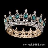 Barock Brautkrone Kopfschmuck Diamant Friseurs Prinzessin Hochzeitskleid Zubehör
