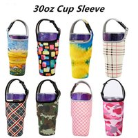 30oz Cup Sleeve Neoprene Tumbler Holder Drinkware Handle Insulated Sleeves Water Bottle Holders Tumblers Carrier Cups Accessories