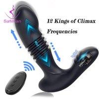 Anal spielzeug dildo vibrator fernbedienung spielzeug stecker vibrieren erotische massage für männer prostata masturbatoren sex erwachsene 18